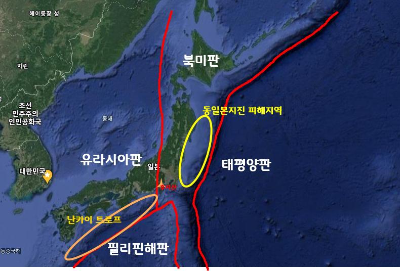 일본해구-난카이 트로프