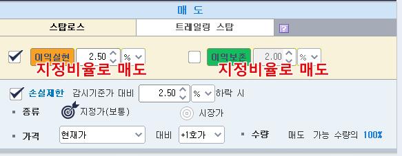 키움 영웅문 캐치 자동매매 단점_분할매도